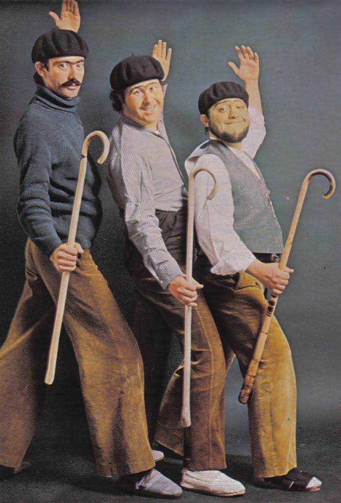 La charanga del Tío Honorio. De izquierda a derecha: Luis Gómez Escolar, Julio Seijas y Honorio Herrero.