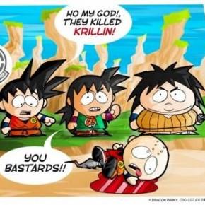 Oh my god! They killed Krillin! -You bastards!!