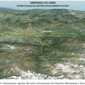 Las orientaciones sagradas (incaicas) de Santiago de Chile